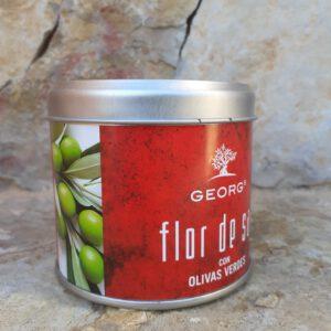 Flor de Sal Olive verde 200g Salze und Gewürze