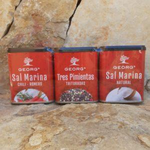 Dreier-Pack (Salz, Chillisalz+Pfeffer) Salze und Gewürze