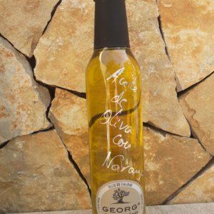 Orange auf Olivenöl Öle